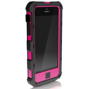 Противоударный чехол на iPhone 5/5s, Ballistic Hard Core Case Black/Hot Pink