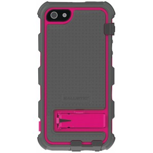 Противоударный чехол на iPhone 5/5s, Ballistic Hard Core Case Gray/Hot Pink