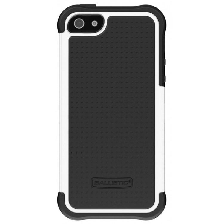 Противоударный чехол на iPhone 5/5s, Ballistic Tough Jacket Black/White